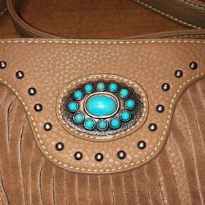 Trinity Ranch Bags - Trinity Ranch Western Brown Fringe Shoulder Purse